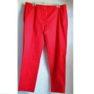 United Colors of Benetton Women's Red Cropped Pant